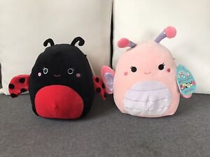 """Soft Toys Bundle Ladybug Squishmallow & Butterfly Squishmallows 7.5""""🐞 🦋"""