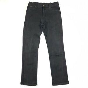 WRANGLER Mens Denim Jeans Texas Stretch Black Size W34 L34
