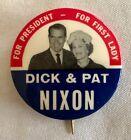 DICK & PAT NIXON JUGATE 1960 EMRESS BUTTON PINBACK - SCARCE - free shipping!