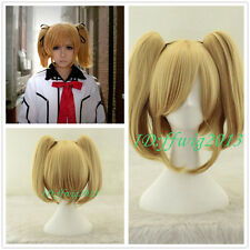 Vampire Knight Rima Touya cosplay wig blonde Cosplay Wig Clip on 2 Ponytails