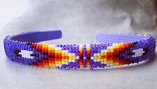 Native American purple Beaded Headband