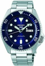 Seiko 5 Men's Automatic Blue Dial Silver Strap Watch SRPD51K1