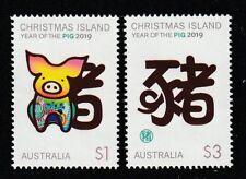 Christmas Island 2019 : Lunar New Year, Year of the Pig 2019 Design Set. MNH