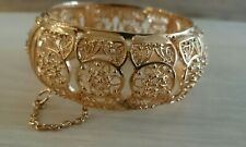 Bracelet filigrane doré