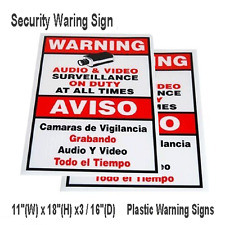 New Surveillance Sign Spanish English/ Warning Security Camera Sign 2》Outdoor