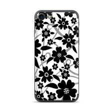 Apple iPhone 7 / 8 Skins Decal Wrap Black white Flower Print