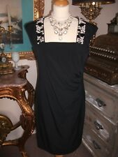 BNWT Ladies Pearl & Diamante black dress size 12 by Changes by together