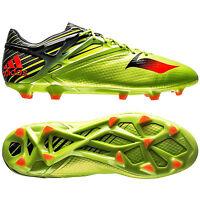 New Adidas Messi 15.1 FG/AG Mens Soccer Cleats : Green / Black