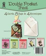 "Double Pocket Treat Card Kit HOTP 4 Cards & Envelopes 8 Tags 3 1/2""x5 3/8 New"