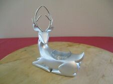 """Yankee Candle Company Silver Tone Reindeer Tea Light Candle Holder 6"""" x 5 1/2"""" L"""