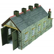 Single Track Engine Shed - Stone - N Card kit – Metcalfe PN932