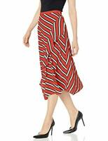 Calvin Klein Women's Ruffle Front Skirt Red, 8