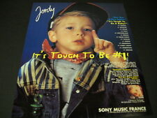 JORDY says IT'S TOUGH TO BE NUMBER ONE 1993 Promo Poster Ad mint condition