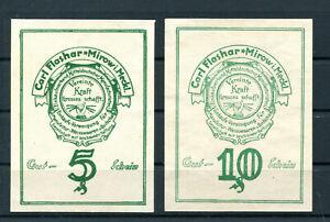 Mirow 2 Scheine Notgeld ...................................................z1696