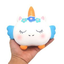 KIIBRU Squishy Unicorn Cookie Slow Rising Cartoon Scented Jumbo Squishies Toys