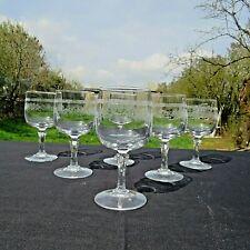 6 verres a liqueur ou a porto en cristal d arques modèle Matignon