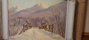 Canadian QUEBEC painting SIGNED LISTED ARTIST