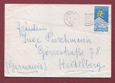 da Ferrara per Germania Storia Postale Repubblica 1959 Esposizione L.60 Isolato