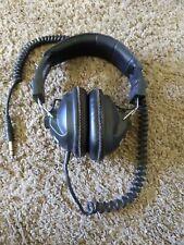 "Calrad 15-135B Stereo Metal Detector Over-the-Ear Headphones Black 1/4"" Tip"