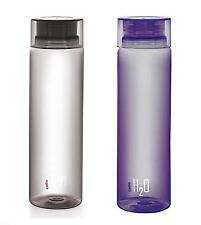 Cello H2O 1 Litre Water Bottle (Pack of 2) (Black and Purple)