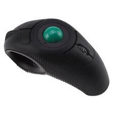 """Wireless HandHeld USB Mouse Trackball Mouse Black"" N6G1"