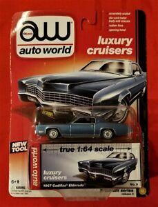 AW Auto World Luxury Cruisers 1967 CADILLAC ELDORADO 1:64 Diecast MIP