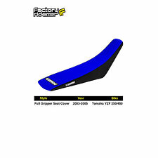 2003-2005 YAMAHA YZF 250 Black/Blue FULL GRIPPER SEAT COVER BY Enjoy MFG