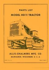 ALLIS CHALMERS HD11 HD-11 Crawler Parts List Manual