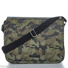 William Rast Faux Leather Unisex Messenger Bag Camo NWT
