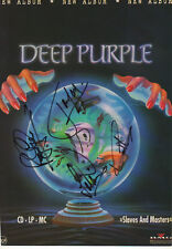 Deep Purple Autogramme signed A4 Magazinbild