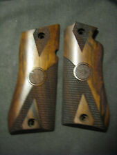Star Model BM BKM Partially Checkered+LOGO French Walnut Pistol Gun Grips NEW