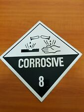 NEW Corrosive 8 Sign Safety Dangerous Goods 250x250mm Metal Tin Sign