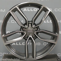 "GENUINE AUDI S3/RS3/A3 8V POLISH/GREY SPOKE 19""INCH SINGLE/SPARE ALLOY WHEEL X1"