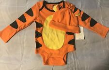 Disney Store Winnie the Pooh Tigger 2 Years Bodysuit & Hat Baby Costume New