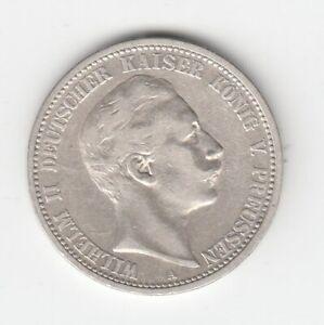 Preußen  2 Mark  1904  Wilhelm II.  Sehr Schön