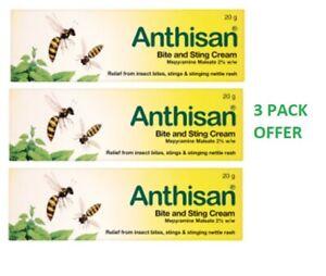 Anthisan Bite and Sting Cream 20g - 3 Pack OFFER