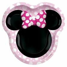 New listing Minnie Mouse Forever Extra Large Shaped Paper Plates (8) ~ Birthday Party Dinner