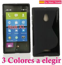 "Funda para ""Nokia XL"" Carcasa Gel Silicona Trasera Sline 2014-2015 Calidad"