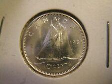 Canada 1963 - 10 cent SILVER - $0.10  - (10158)
