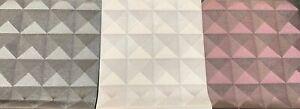 3D Feature Wall Wallpaper Diamond Pyramid Black Silver Purple Metallic Disco WOW