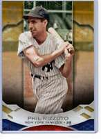 Phil Rizzuto 2019 Topps Tribute 5x7 Gold #14 /10 Yankees