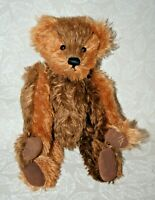 "Collectible Clean Knickerbocker 14"" Mohair Teddy Bear w/ Ear Tag & Moving Joints"