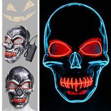 Skelett Schädel Gesicht LED Glühend Maske Halloween Ghost Kostüm Party Dekor
