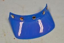 NEW Vintage Blue 5 Snap Motocross Helmet Visor, AHRMA, Buco Bell Shoei