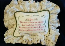 """""""Dad"""" father handmade cross stitched throw pillow gift"""
