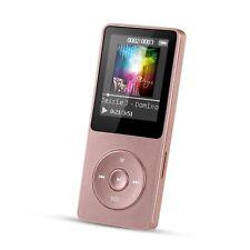 """Reproductor de MP3 8 GB pantalla de 1,8"""" con radio y grabadora de voz, Rosa"""