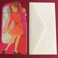 New Vintage Hallmark Valentine's Card for my Grandmother with Envelopes