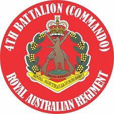4TH BATTALION (COMMANDO) ROYAL AUSTRALIAN REGIMENT UV LAMINATED VINYL STICKER