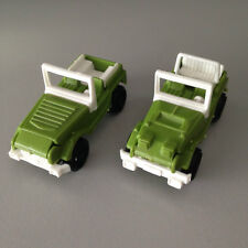 KINDER Surprise 2x Off road Jeep cars vintage from 1980s rare, miniatures