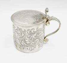 More details for rare george iii sterling silver large mustard pot london 1764 augustin le sage